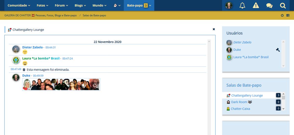 Publicação de anexos de arquivo na sala de chat