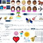 Emoji 🍕 ASCII ☞ UTF-8 ☀ Symbole ✈ Znak specjalny ツ