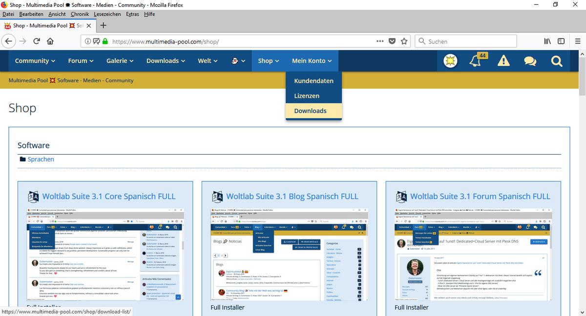 WoltLab Software + VieCode E-Shop