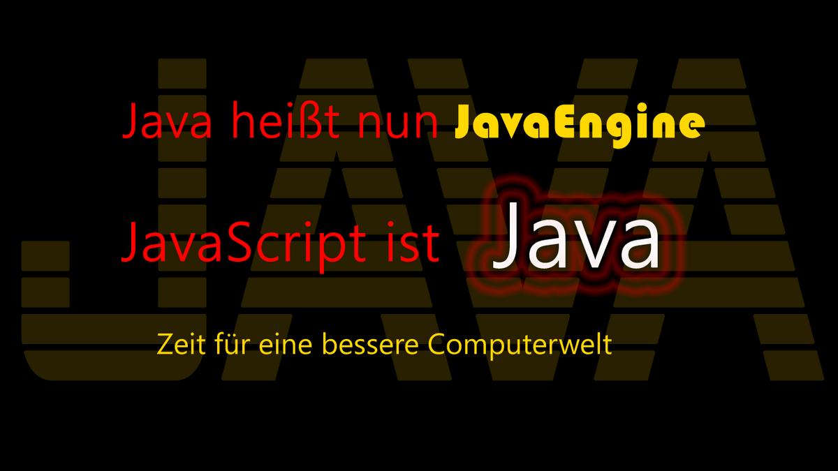 Java spricht und schreibt sich schneller als JavaScript