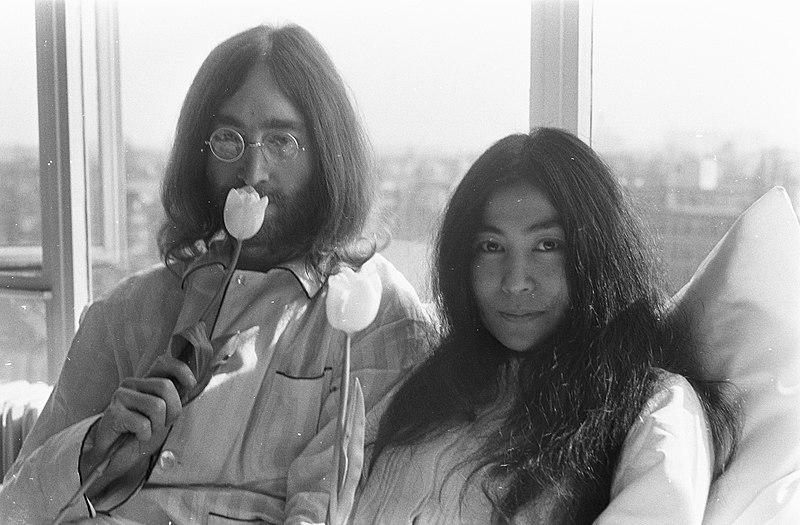 John Lennon + Yoko Ono – Hilton-Hotel – Amsterdam – «Bed-In» – 1969