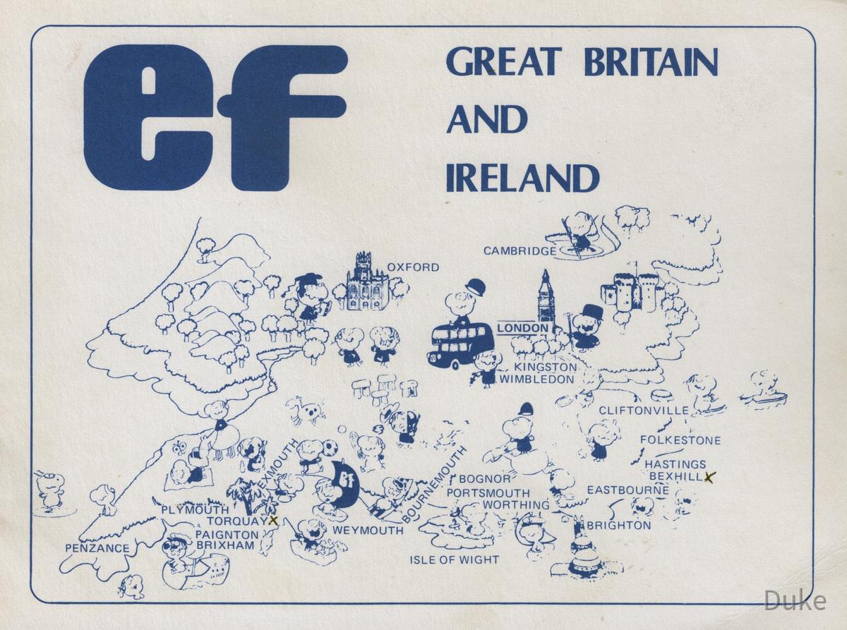 EF Sprachschule - Torquay - England - 1983