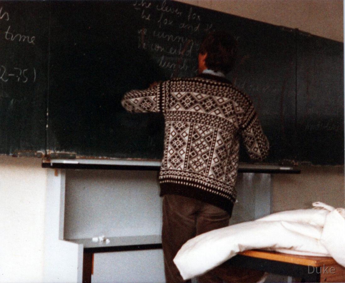 Lehrer Hugo Eckstein - Tafelwischen - IKS Rüsselsheim