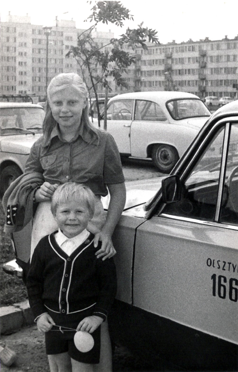 Katarzyna Dondalska mit Bruder - Olsztyn - 03.Sept.1984