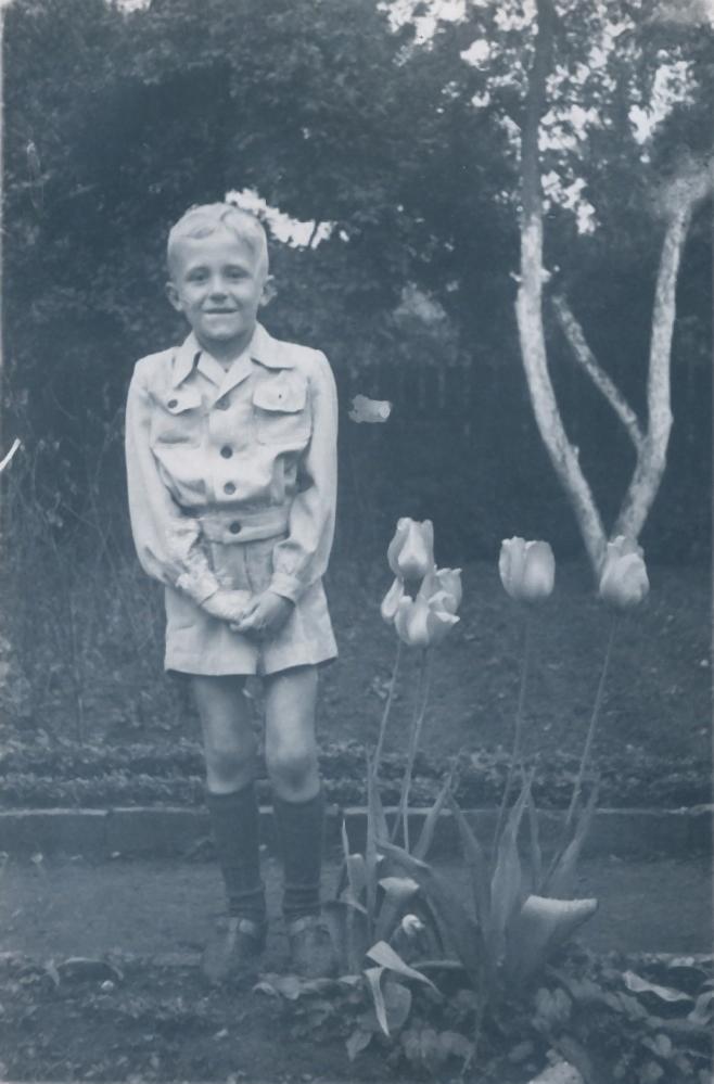 Peter Wernecke mit 11 Jahren um 1956