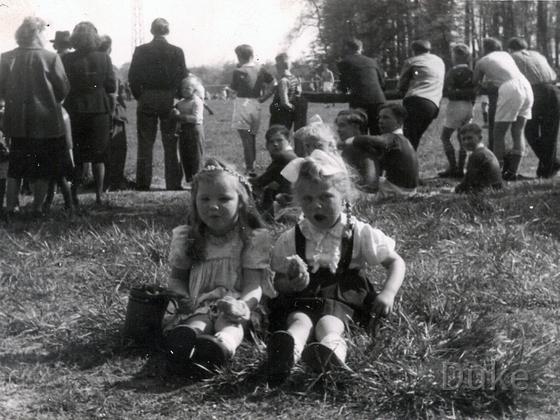 Fußballspiel 1951 am Sportplatz SV Alemannia 07 Königstädten