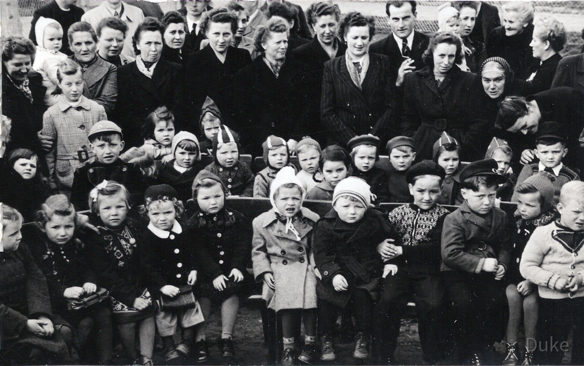 Kindergarten 1. Tag - 1951 oder 1952 - Königstädten