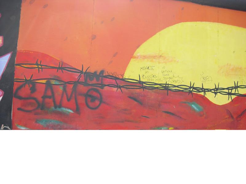 East Side Gallery - Berlin - Graffitis - Sonnenuntergang