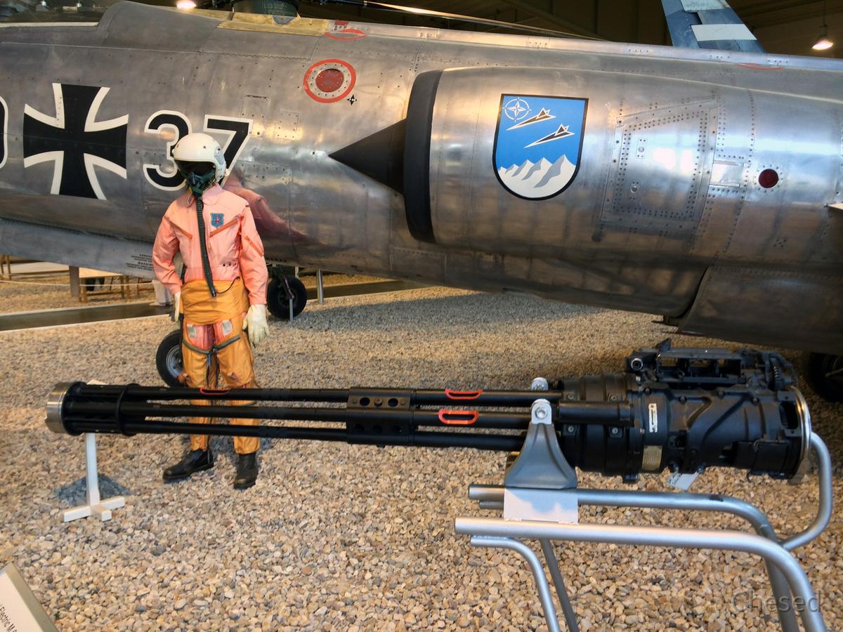 Starfighter F 104 G - Lockheed - Rotations-Maschinengewehr