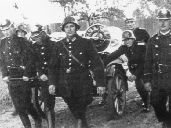 Feuerwehr Königstädten - Feuerwehrübung 1938