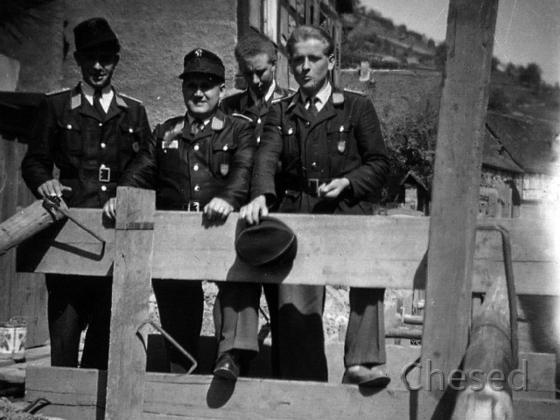 Feuerwehr Königstädten - Ausflug 1950 - Weinberge