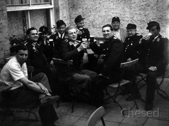 Feuerwehr Königstädten - Ausflug 1950 - Trinkgelage