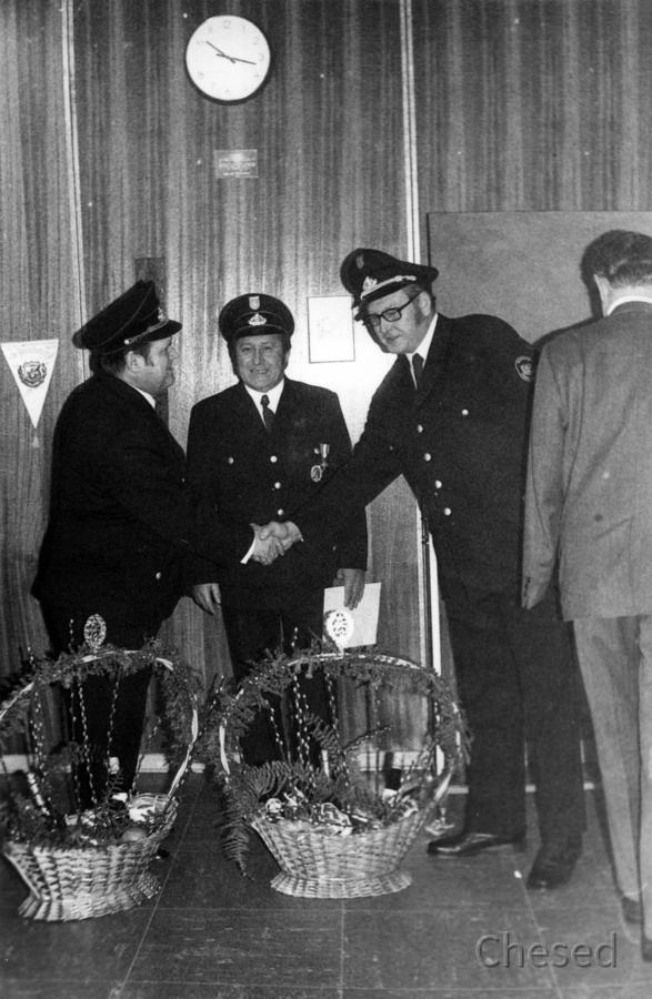 Feuerwehr Königstädten - Ehrung 25 Jahre Feuerwehr 1971