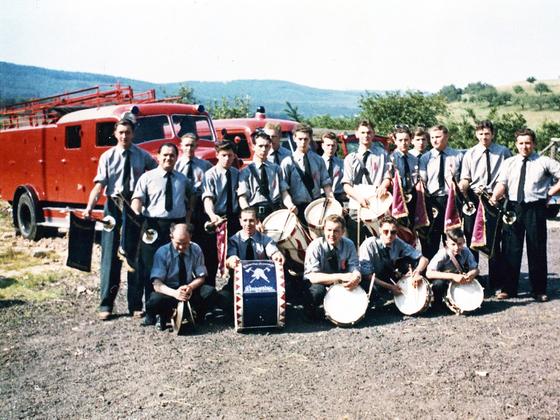 Freiwillige Feuerwehr Königstädten - Fanfarenzug - 1980
