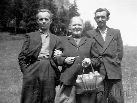 Mein Vater Ludwik Fila (links) mit Großmutter Katarzyna und Onkel Włodek