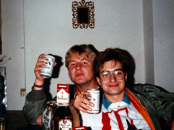 Dosenbier-Mega-Party in Berlin-Kreuzberg - 1988
