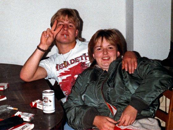 Dosenbier-Party in Berlin-Kreuzberg - 1988