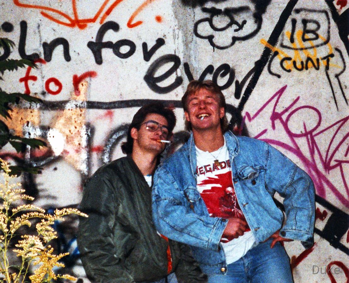 Shit an der Berliner Mauer - 1988 - Andy und Duke