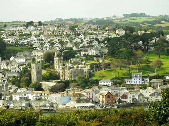 Blick von Bodinnick auf Fowey - Cornwall