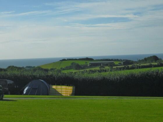 Unser neuer Zeltplatz bei Polperro -Cornwall