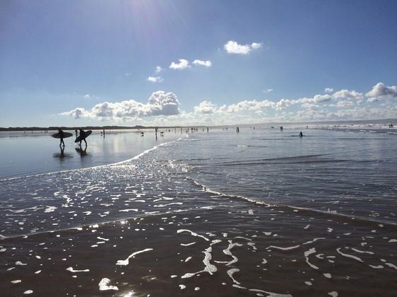 Saunton Beach bei Ebbe