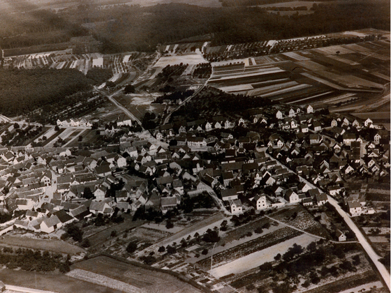 Luftbild - Rüsselsheim-Königstädten - 1926