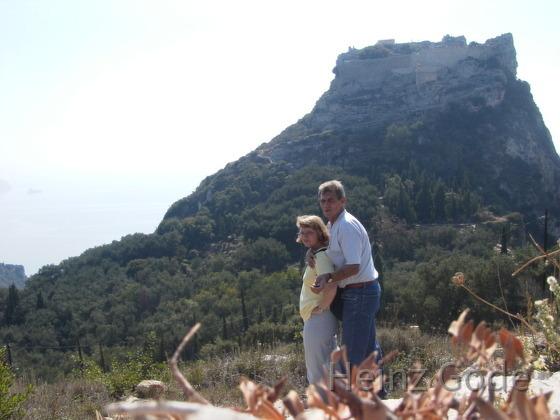 Angelika und Heinz an der Festung - Korfu