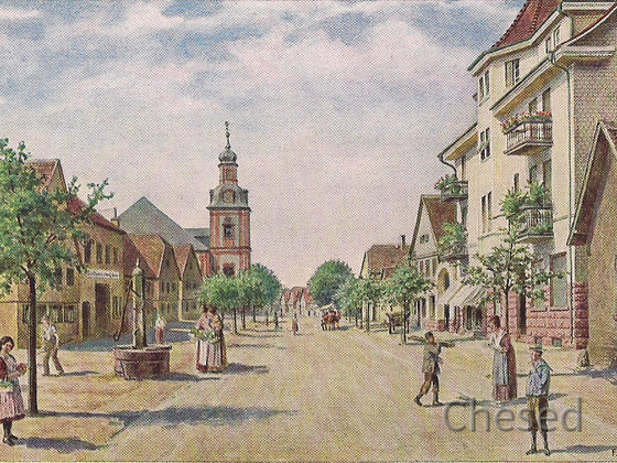 Postkarte Rüsselsheim 1917 - Frankfurter Straße