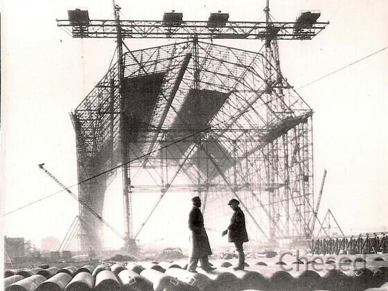 Bau Zeppelinhalle 2 - 1936 - Construction Zeppelin Hangar 2