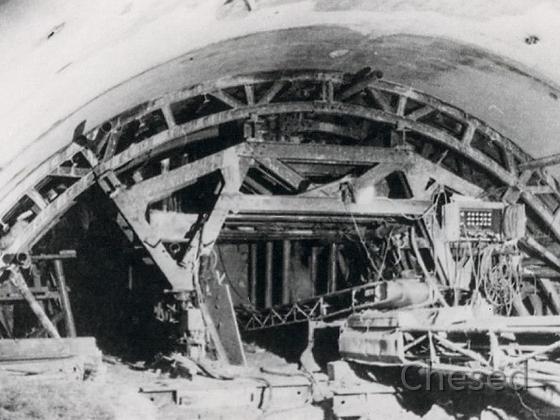 Frankfurt Flughafen – Bau der unterirdischen S-Bahnstation – 1969