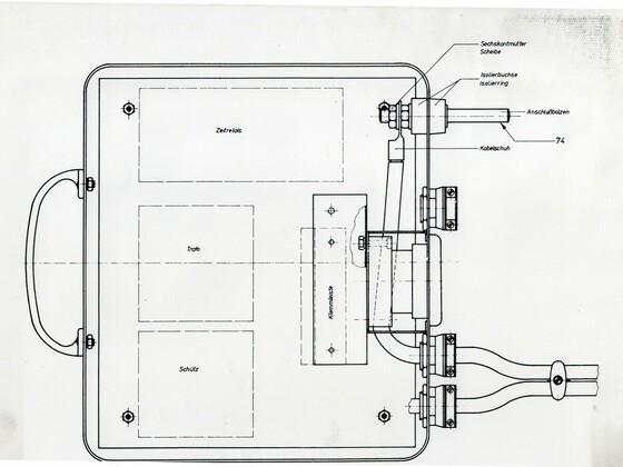Punktschweißgerät aus Rüsselsheim Adam Opel AG - Technische Zeichnung - 2