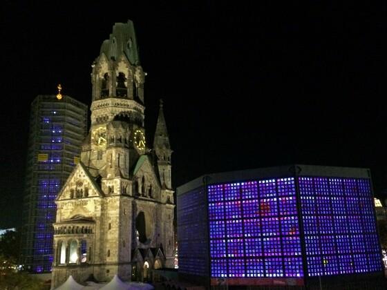 Kaiser-Wilhelm Gedächtniskirche, Turmruine als Mahnmal der Bombardierung