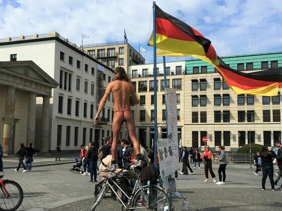 1 Mai Demo am Brandenburger Tor