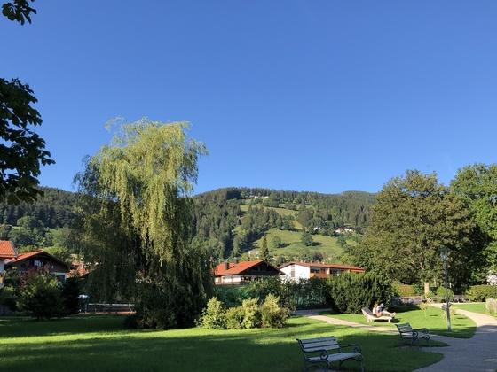 Blick auf unsere Hütte in Bergen