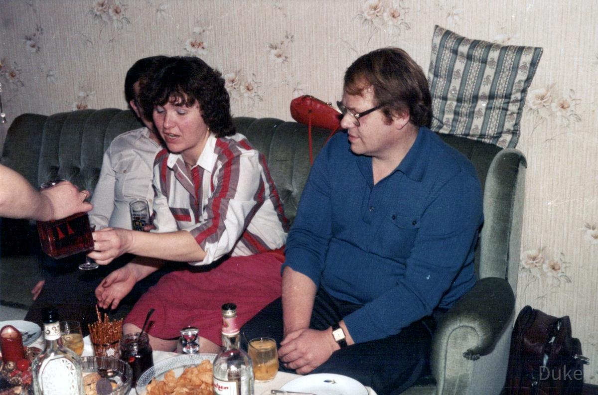 Party 1980 – Rüsselsheim – Brigitte Wernecke und Peter Heck