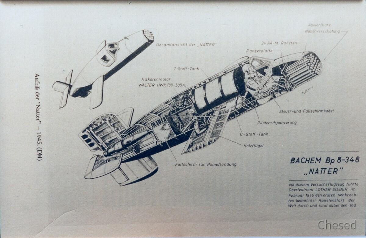 Der erste bemannte senkrechte Raketenstart der Welt Februar 1945