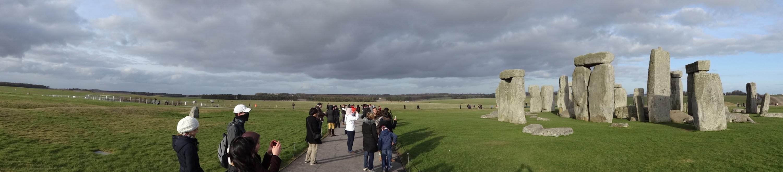 Stonehenge - Mit Besuchern