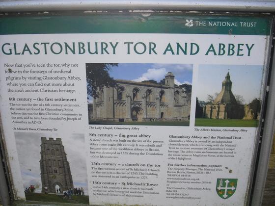 Glastonbury Tor - Sign - Schild