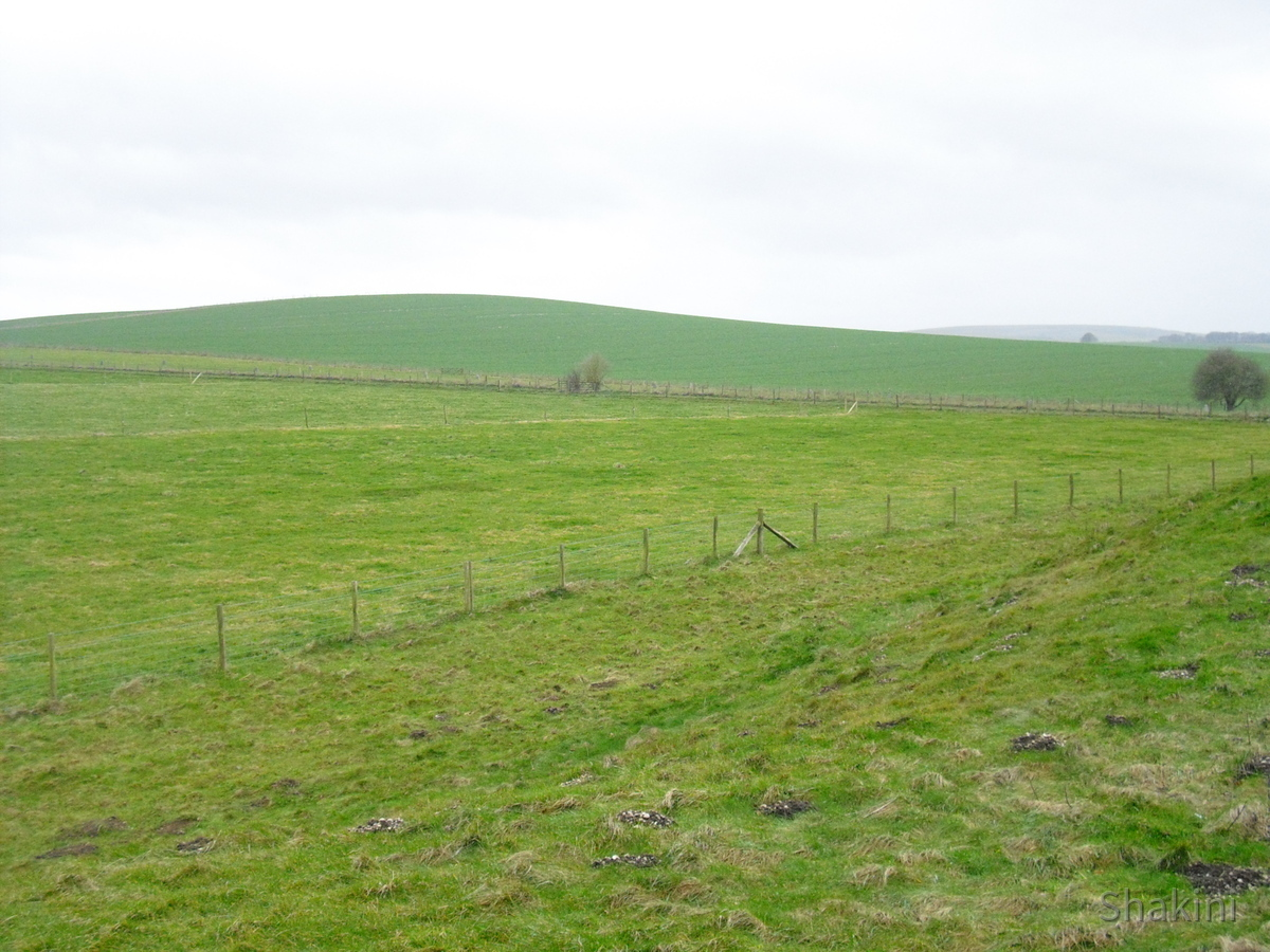 Stonehenge - Hügellandschaft