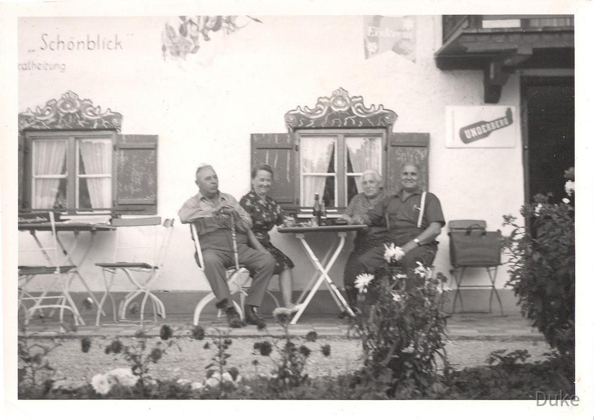 Großeltern von Mutter, mütterlicherseits, im Urlaub - 60er Jahre