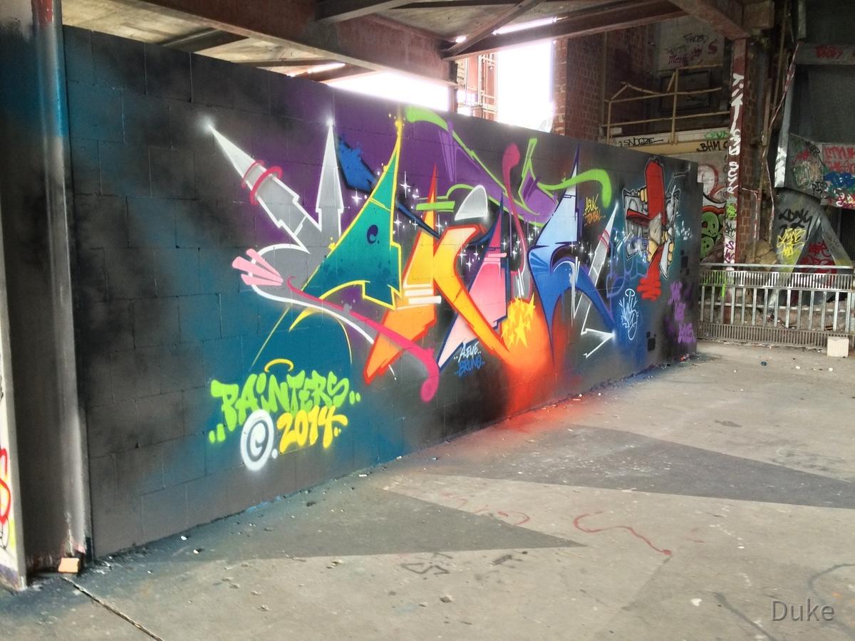 Berlin - Teufelsberg - Graffiti - Schriftzug von Painters