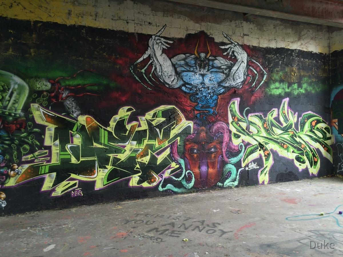 Berlin - Teufelsberg - Graffiti - Dämon