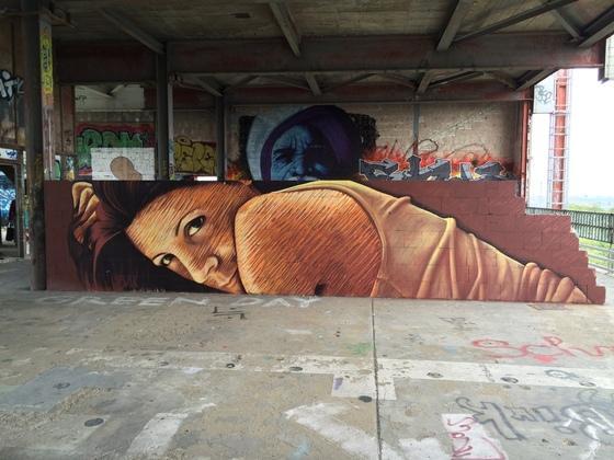 Berlin - Teufelsberg - Graffiti - Passionate Girl - Leidenschaftliche Frau