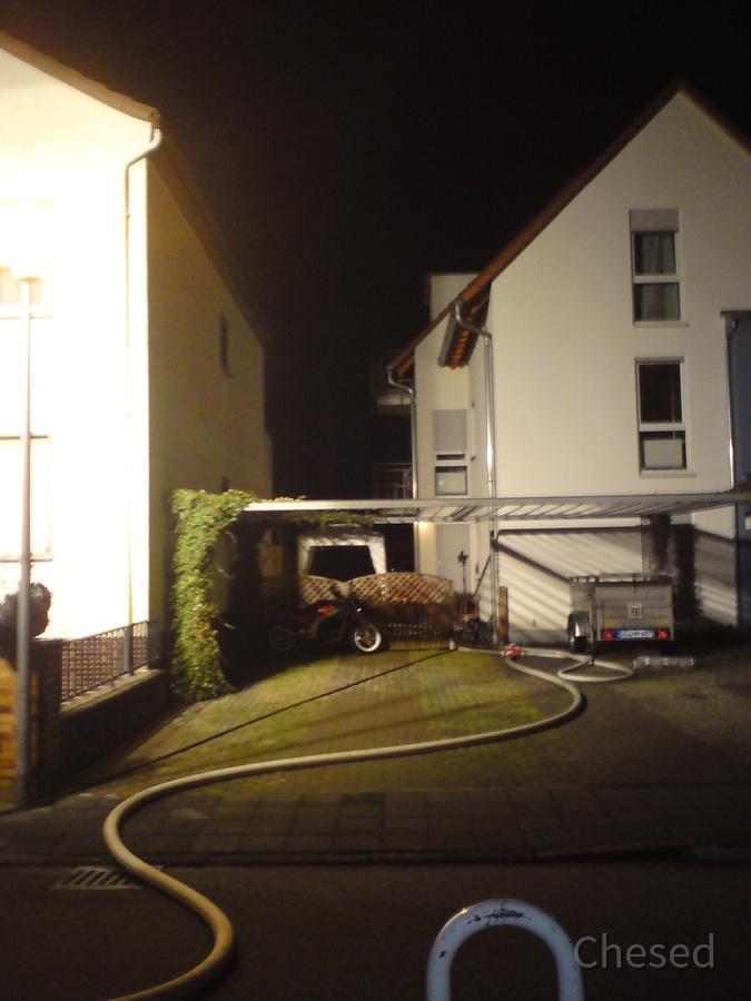 Heizlüfter oder glimmende Zigarett im Schuppen -Feuerwehr-Rüsselsheim