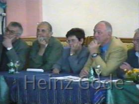 Klassentreffen 2001 Zentralschule Lehnin - Karl-Heinz, Dieter, Issy, Manfred