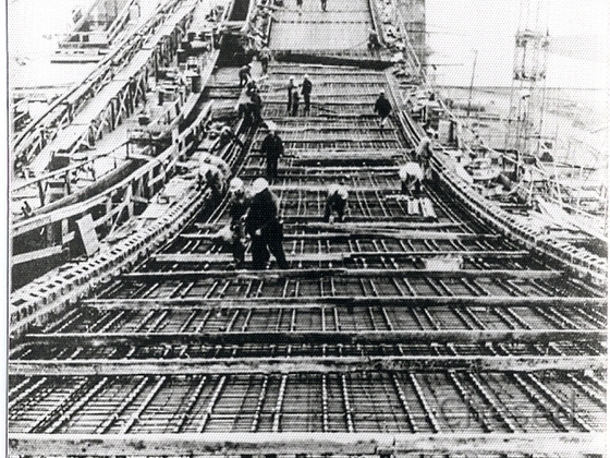 Frankfurt Flughafen - Bau Jumbohalle 5 - 1968-1969