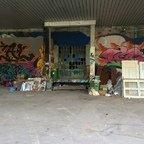 Berlin - Teufelsberg - Field Station - Kantinenlager - Graffitis - Canteen Warehouse