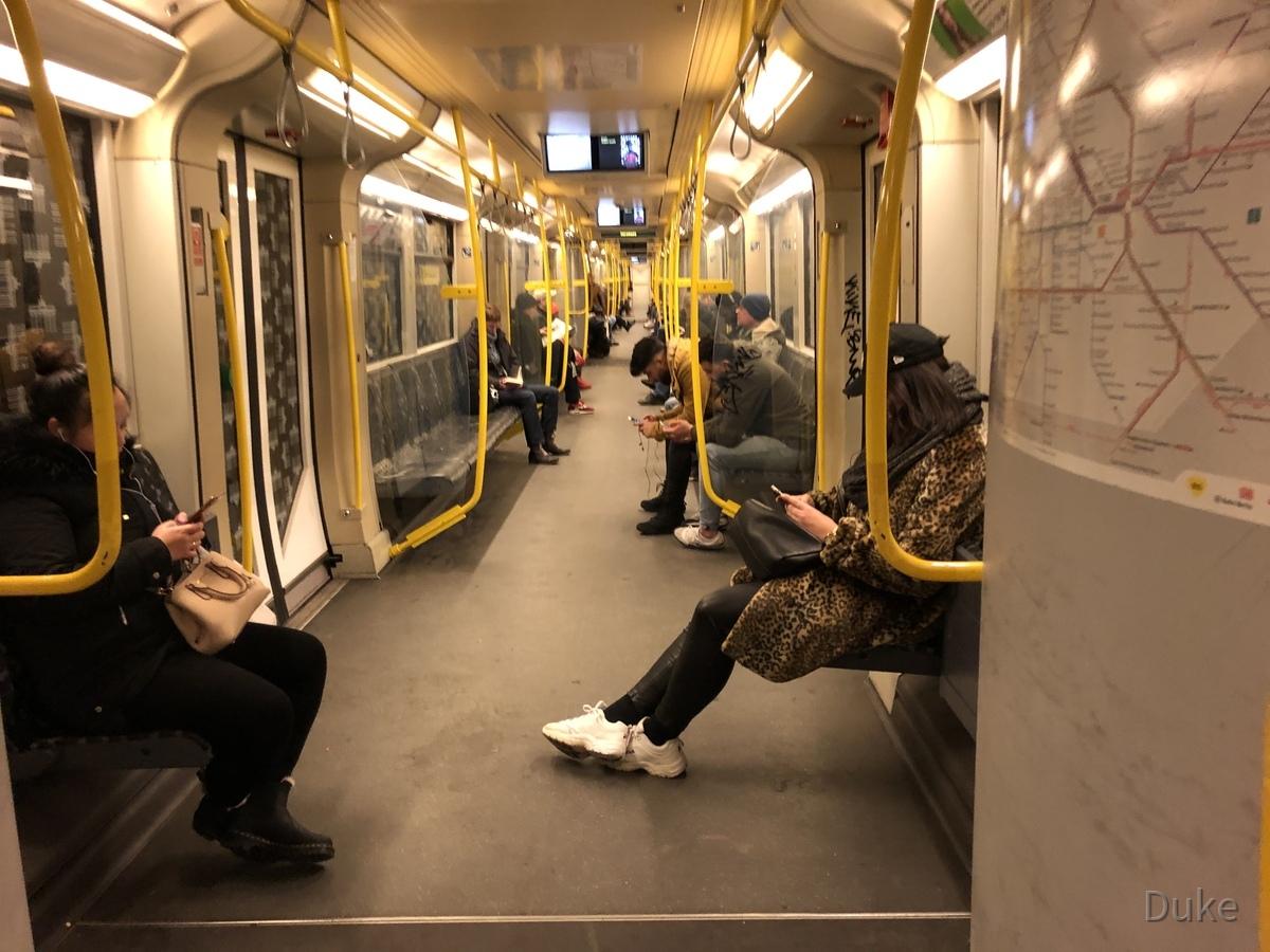 Berlin-Spandau - U-Bahnlinie 7 - Richtung Zoo