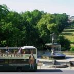 Sicht vom Ehrenhof auf das Ruinenberg