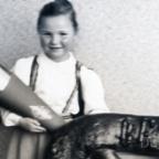 Einschulung 1953 mit Schulbrezel und Schultüte von Brigitte Friedrich